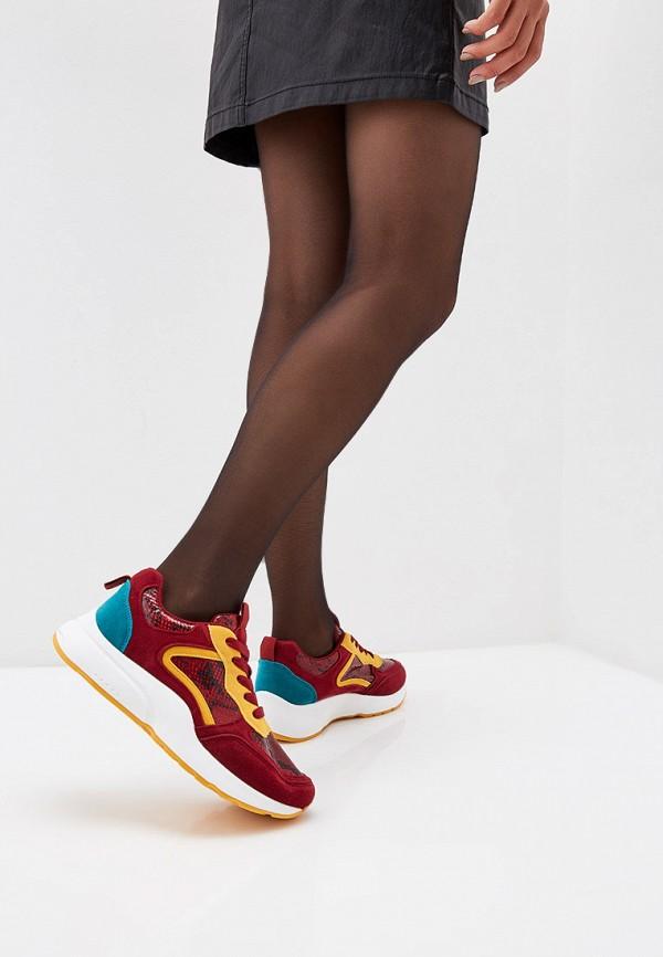Фото 6 - женские кроссовки Ideal Shoes красного цвета