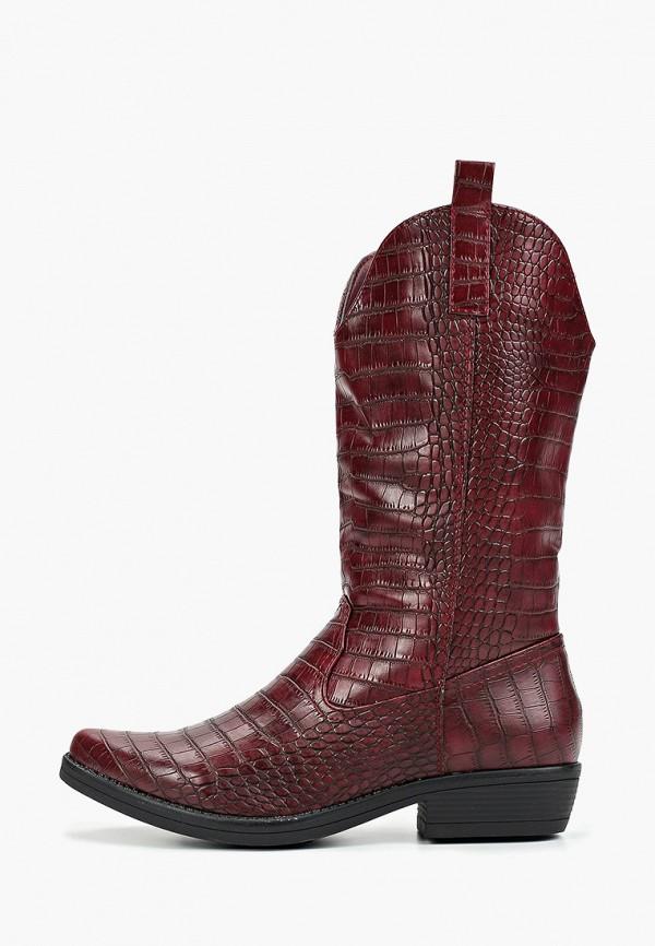 женские сапоги ideal shoes, бордовые