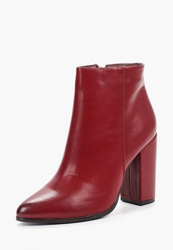 Фото 2 - женские ботильоны Ideal Shoes бордового цвета