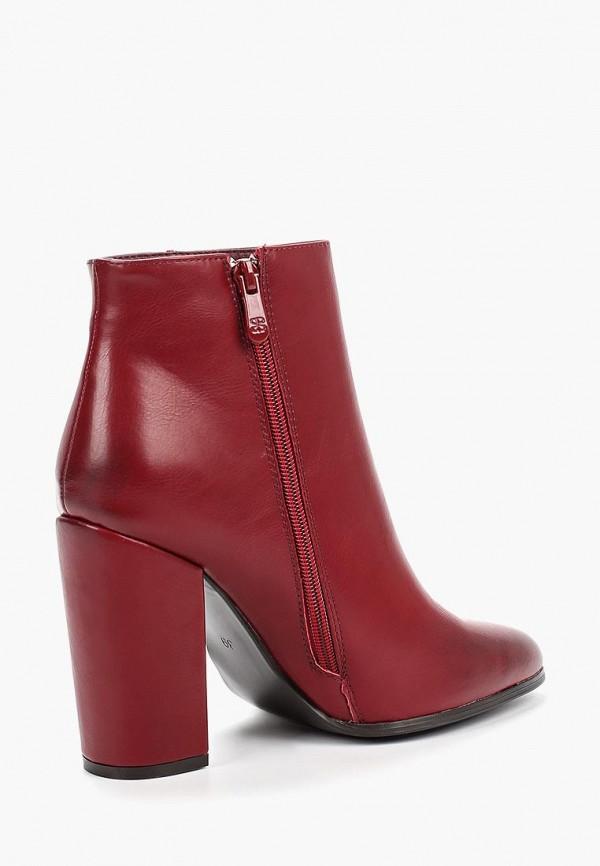 Фото 3 - женские ботильоны Ideal Shoes бордового цвета