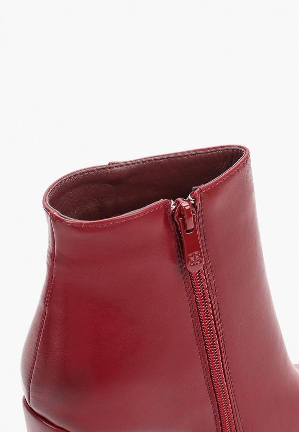 Фото 6 - женские ботильоны Ideal Shoes бордового цвета