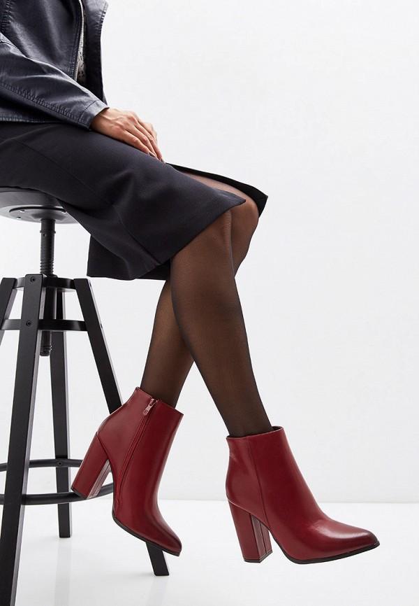 Фото 7 - женские ботильоны Ideal Shoes бордового цвета