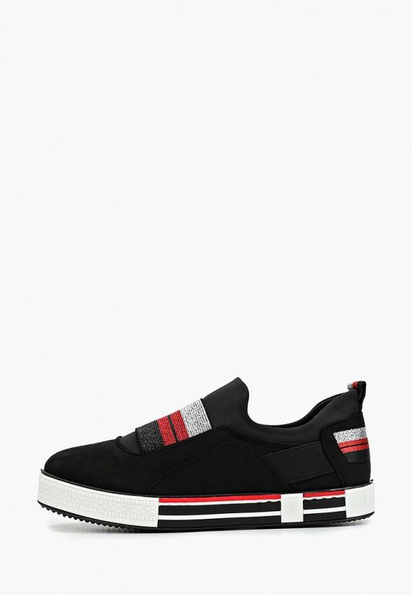 женские кеды ideal shoes, черные