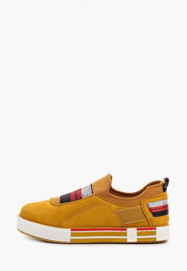женские кеды ideal shoes, желтые