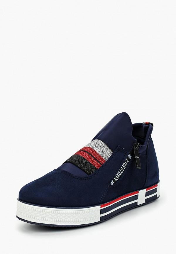 Фото 2 - женские кеды Ideal Shoes синего цвета