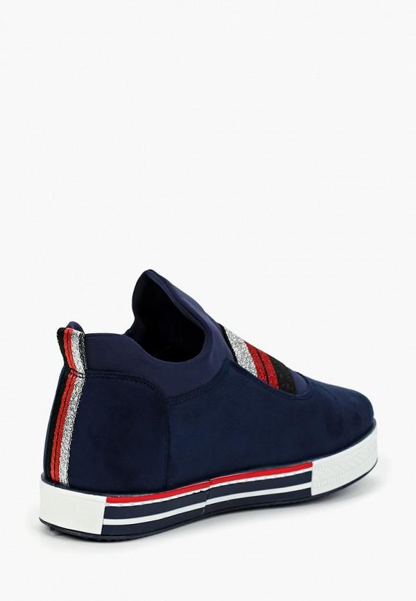 Фото 3 - женские кеды Ideal Shoes синего цвета