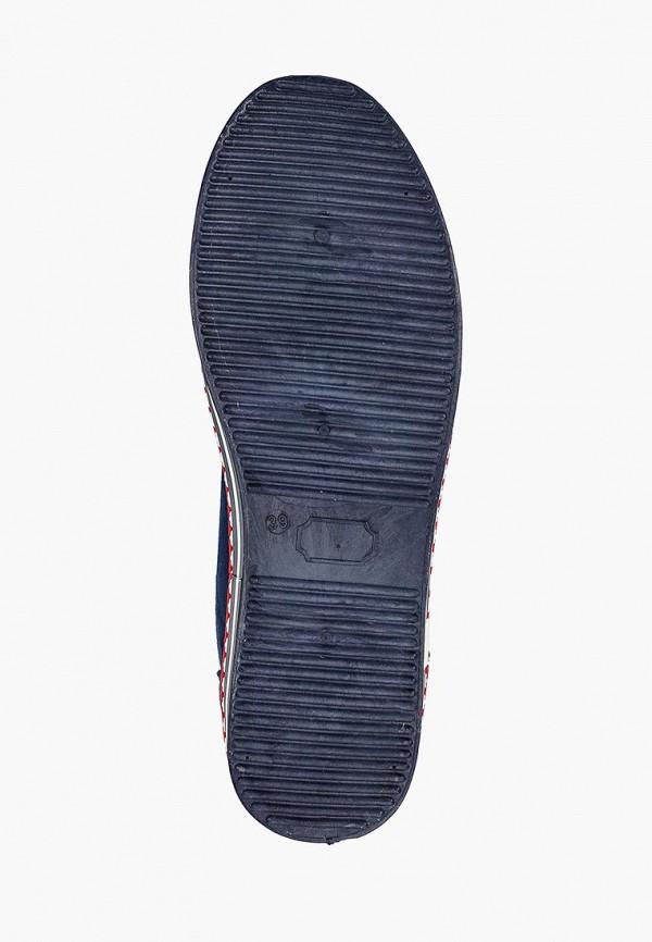 Фото 5 - женские кеды Ideal Shoes синего цвета