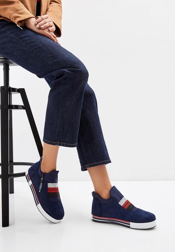 Фото 6 - женские кеды Ideal Shoes синего цвета