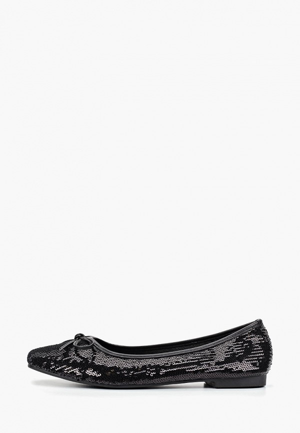 женские балетки ideal shoes, черные