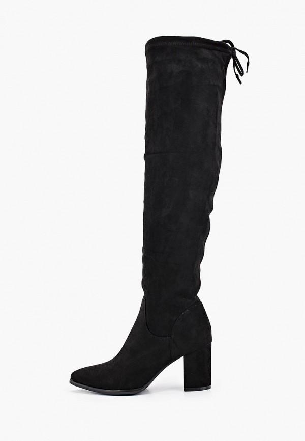 женские ботфорты ideal shoes, черные