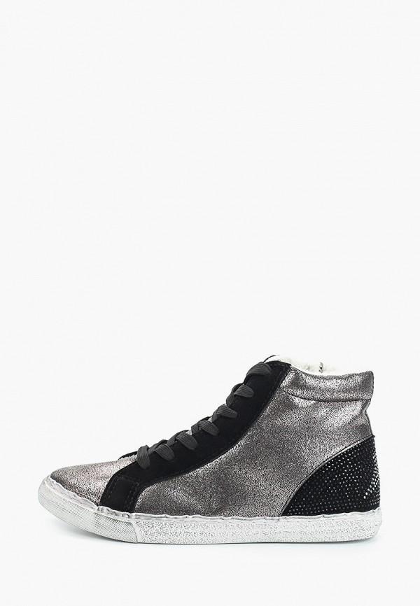 женские кеды ideal shoes, серебряные