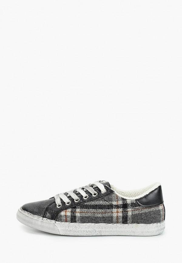 женские кеды ideal shoes, серые