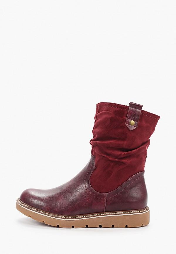 женские полусапожки ideal shoes, бордовые