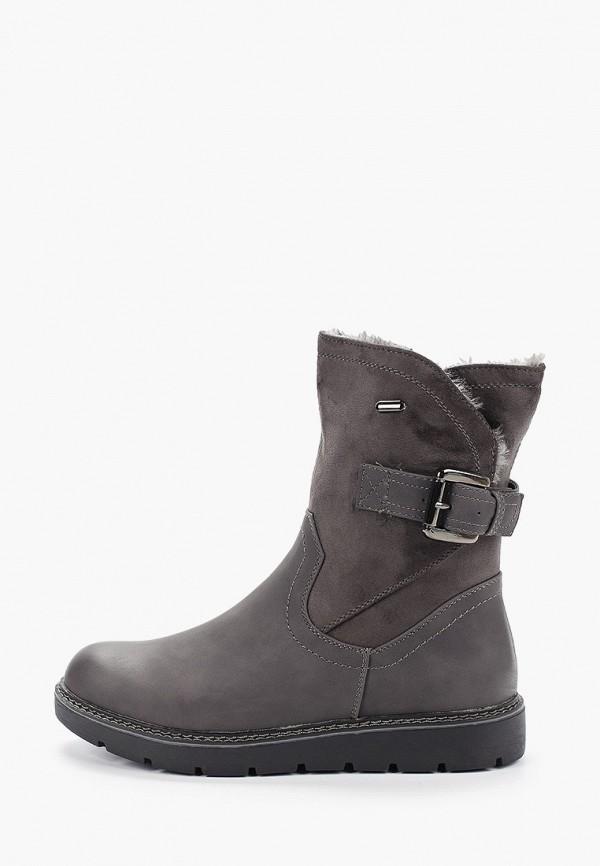 женские полусапожки ideal shoes, серые