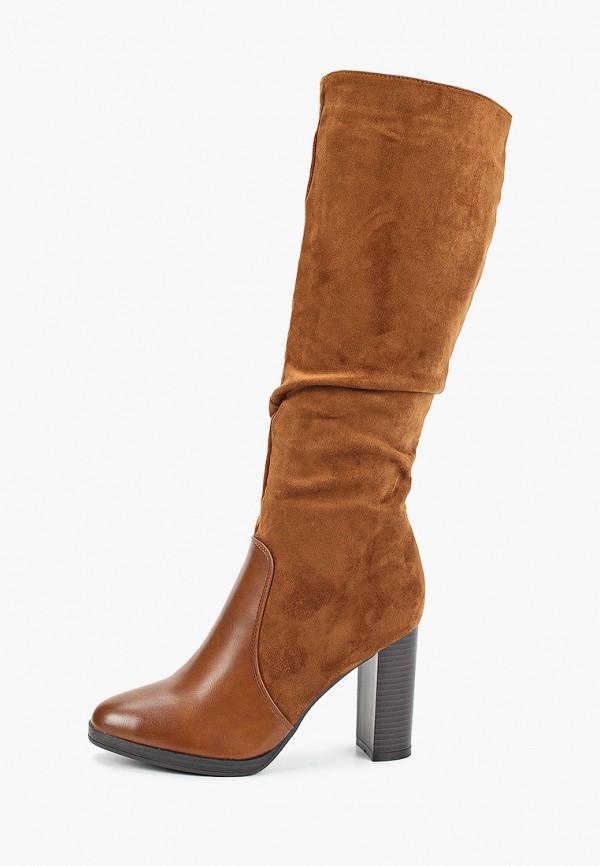 женские сапоги ideal shoes, коричневые