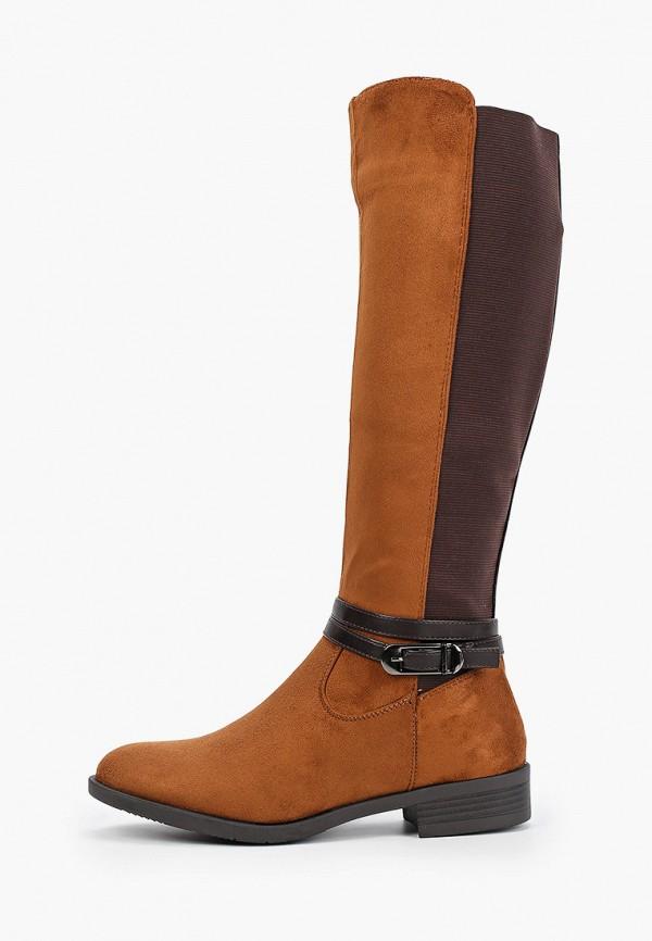 Фото - женские сапоги Ideal Shoes коричневого цвета