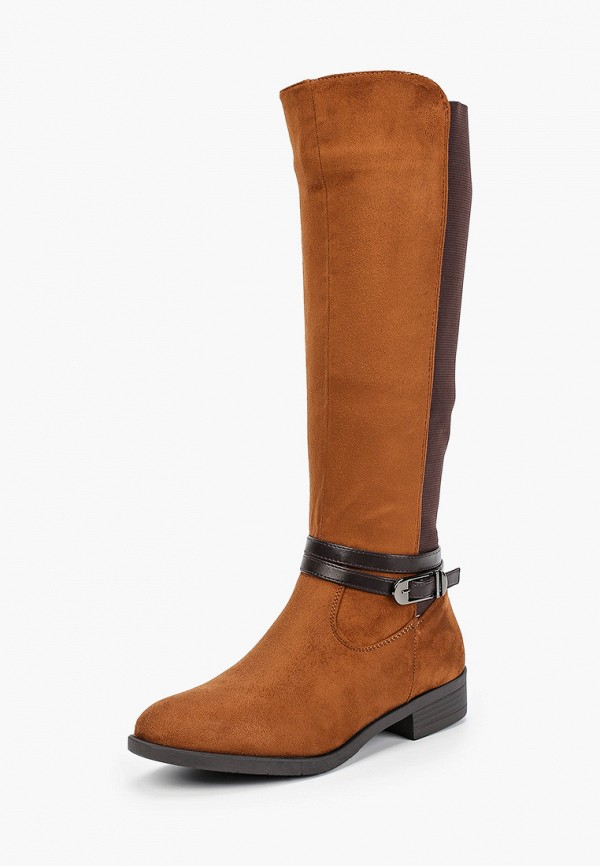 Фото 2 - женские сапоги Ideal Shoes коричневого цвета