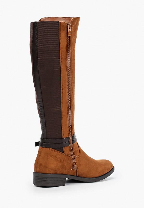 Фото 3 - женские сапоги Ideal Shoes коричневого цвета