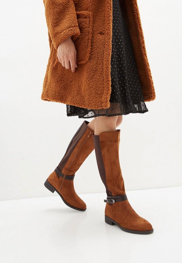 Фото 7 - женские сапоги Ideal Shoes коричневого цвета