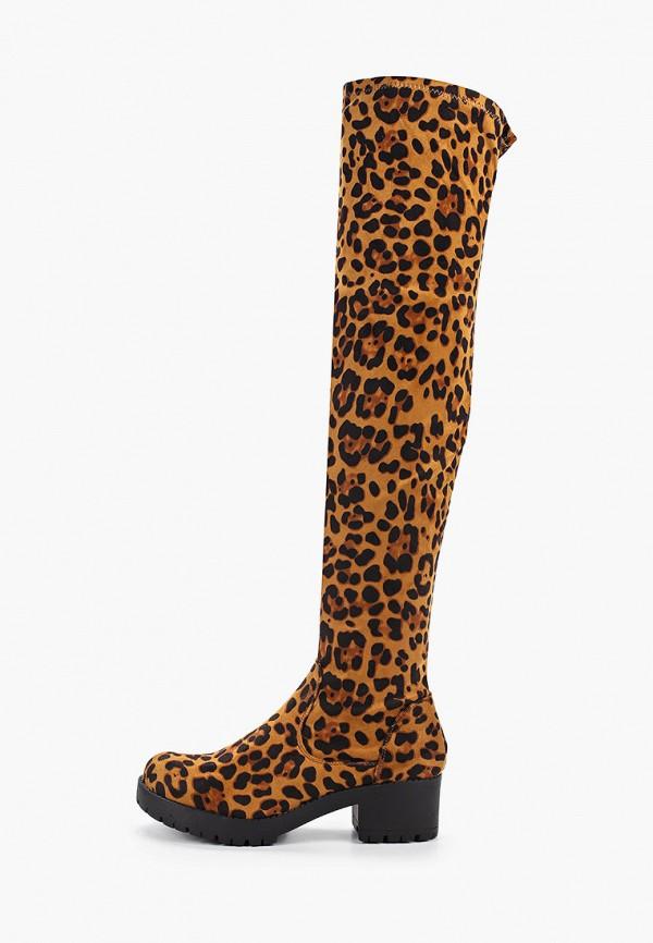 Фото - женские ботфорты Ideal Shoes коричневого цвета