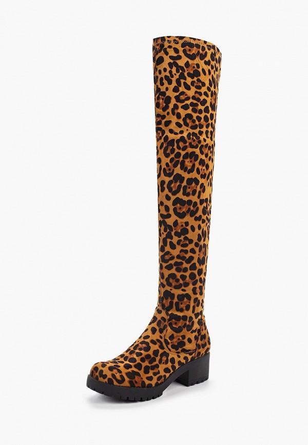 Фото 2 - женские ботфорты Ideal Shoes коричневого цвета