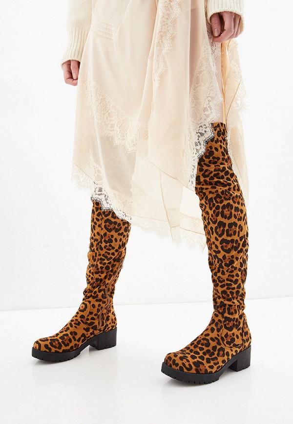 Фото 7 - женские ботфорты Ideal Shoes коричневого цвета