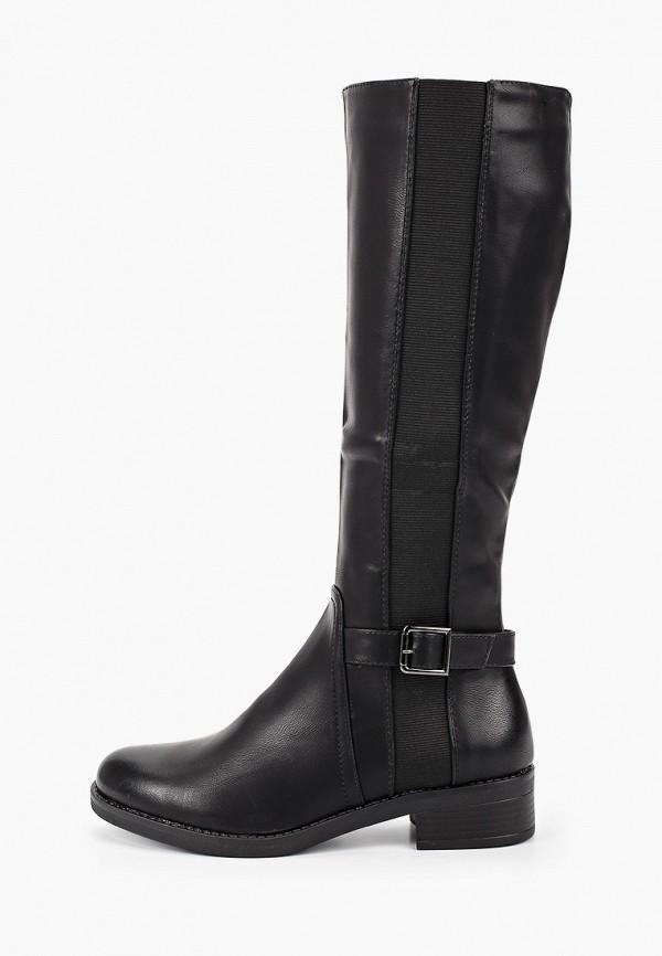 женские сапоги ideal shoes, черные