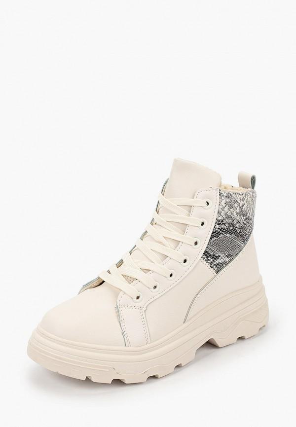 Фото 2 - женские ботинки и полуботинки Ideal Shoes бежевого цвета