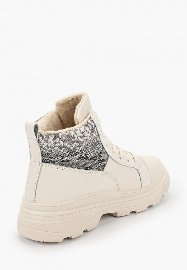 Фото 3 - женские ботинки и полуботинки Ideal Shoes бежевого цвета