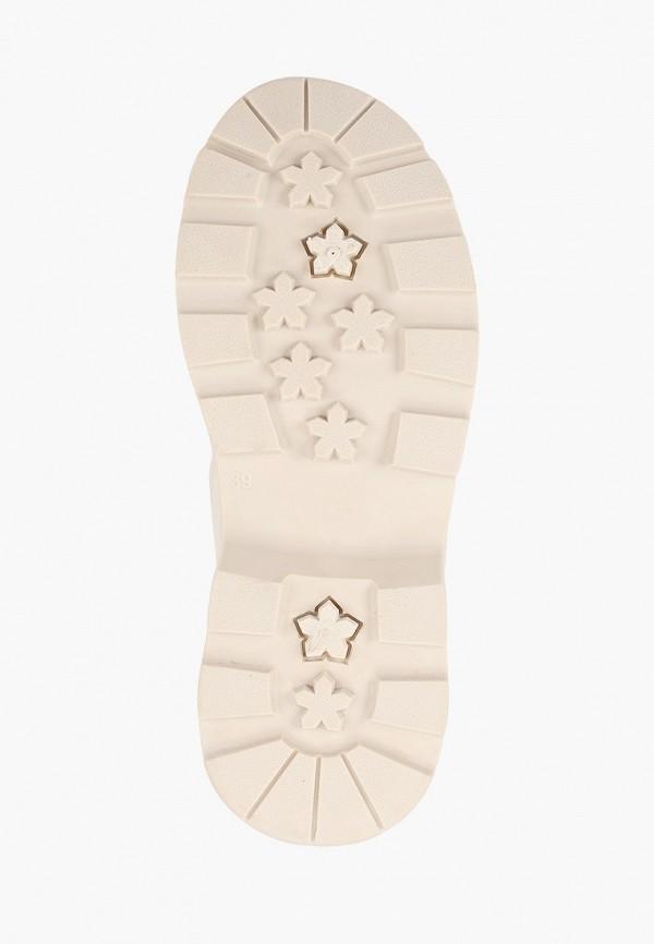 Фото 5 - женские ботинки и полуботинки Ideal Shoes бежевого цвета