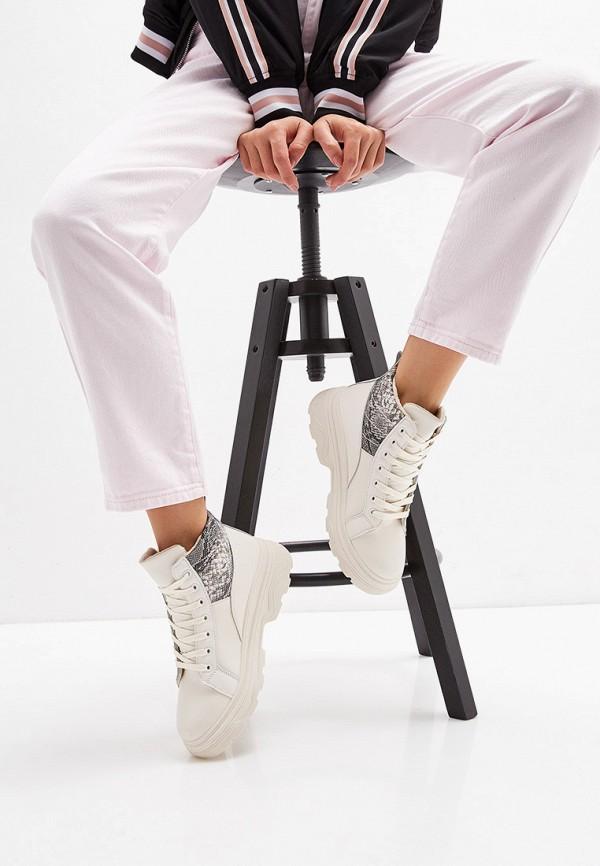 Фото 6 - женские ботинки и полуботинки Ideal Shoes бежевого цвета