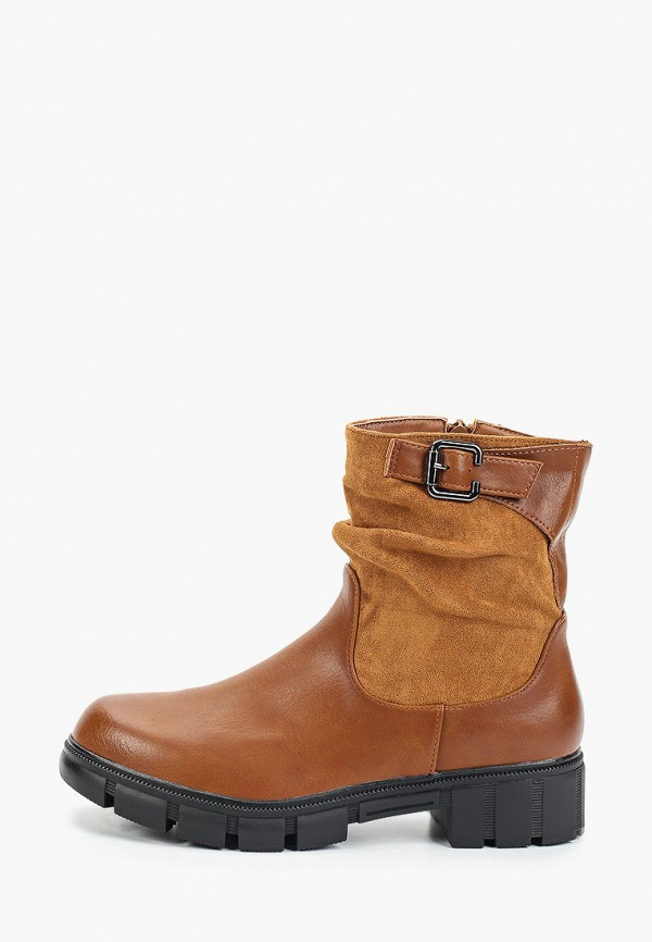 Фото - женские полусапоги Ideal Shoes коричневого цвета