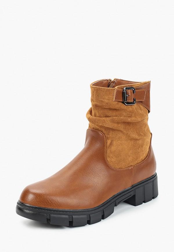 Фото 2 - женские полусапоги Ideal Shoes коричневого цвета