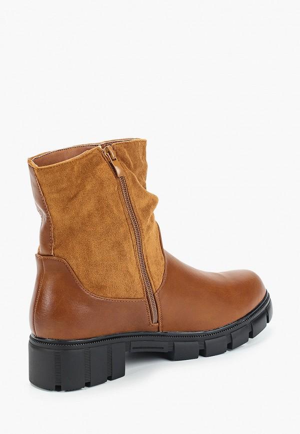 Фото 3 - женские полусапоги Ideal Shoes коричневого цвета