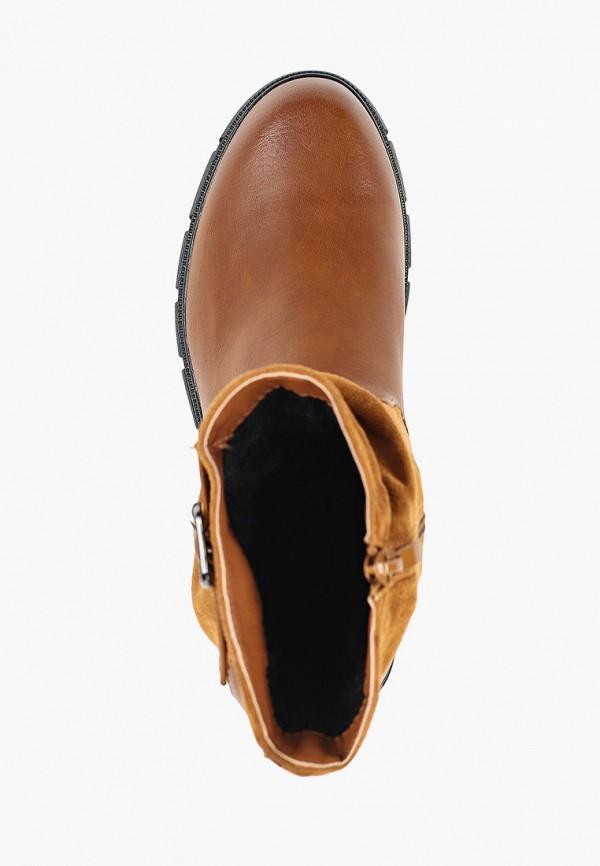 Фото 4 - женские полусапоги Ideal Shoes коричневого цвета