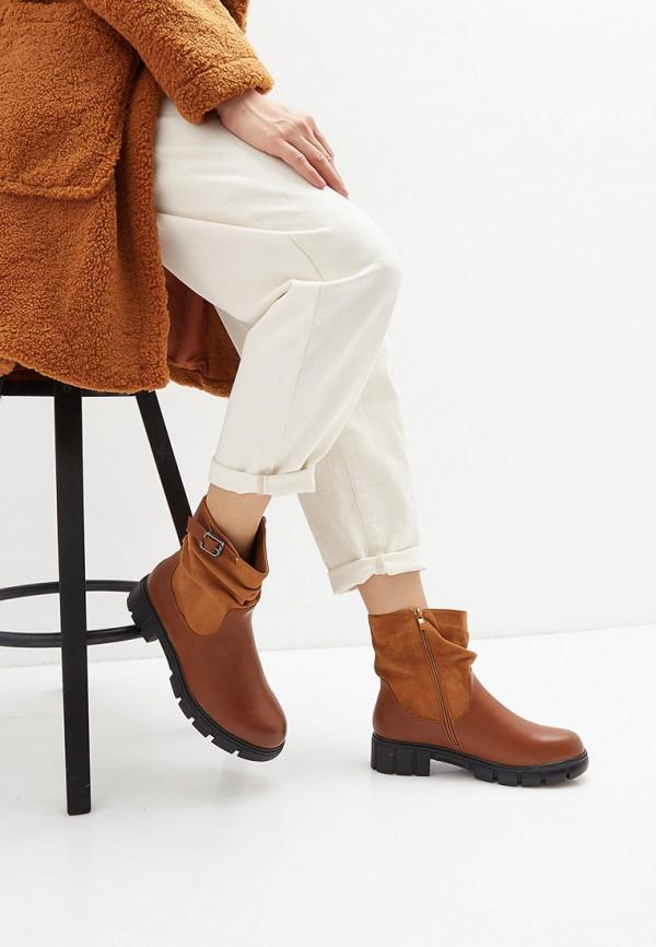 Фото 6 - женские полусапоги Ideal Shoes коричневого цвета