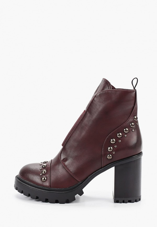 женские ботильоны ideal shoes, бордовые
