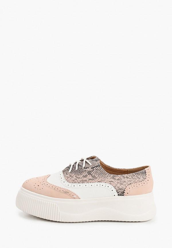 женские ботинки ideal shoes, розовые