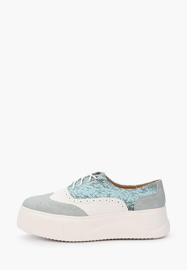 женские ботинки ideal shoes, бирюзовые