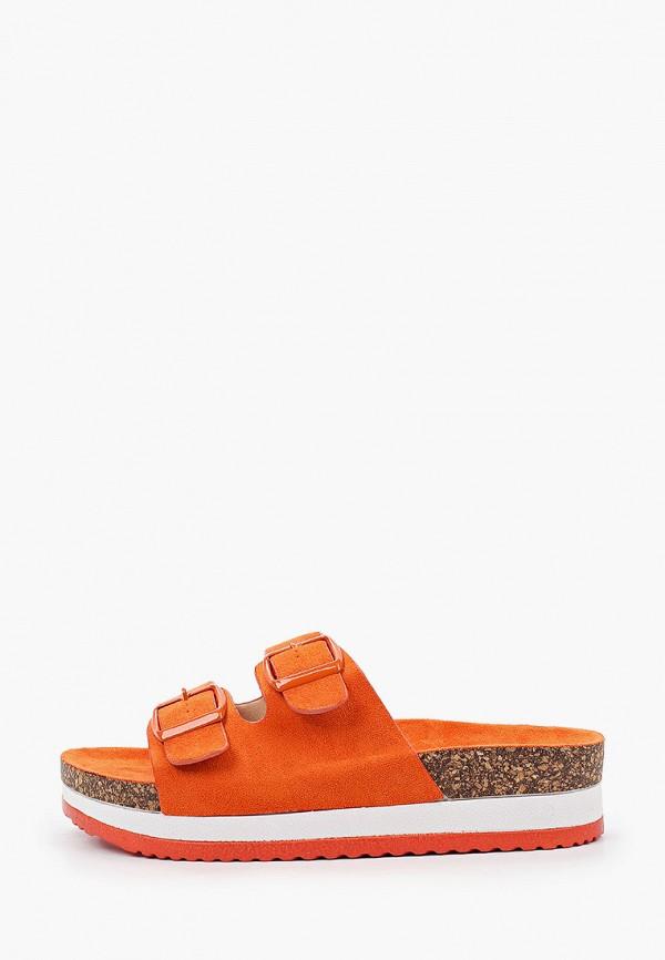 женское сабо ideal shoes, оранжевое