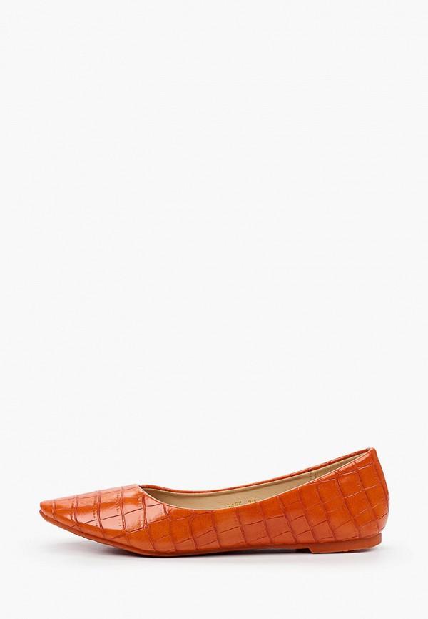 женские балетки ideal shoes, оранжевые