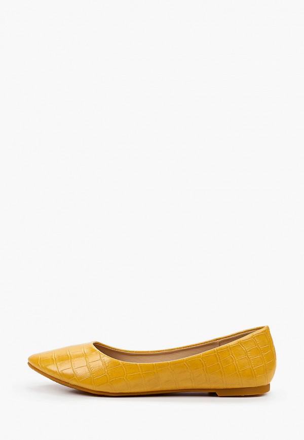 женские балетки ideal shoes, желтые
