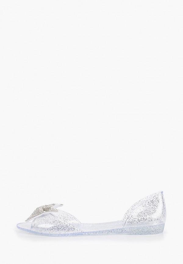 женские балетки ideal shoes, серебряные