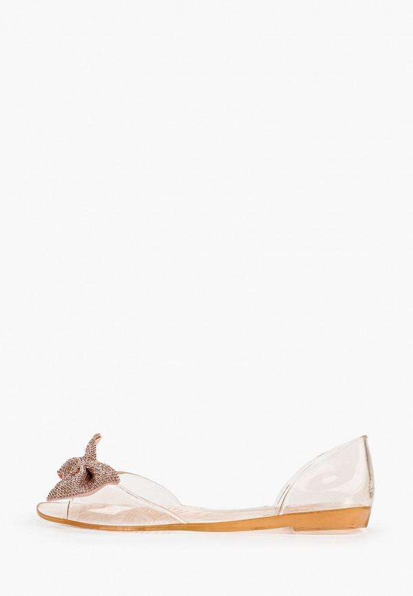 женские балетки ideal shoes, золотые