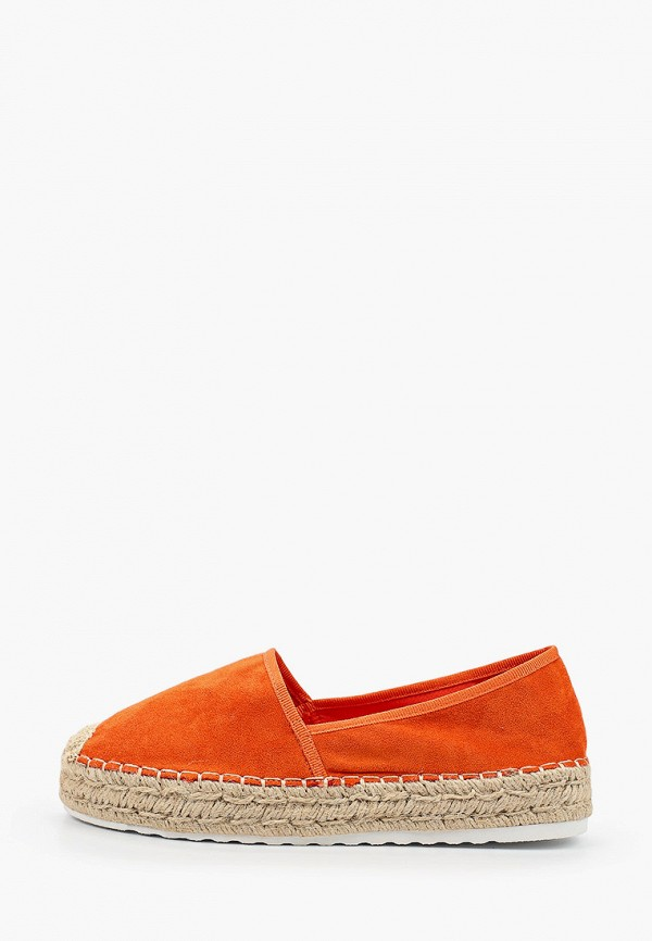 женские эспадрильи ideal shoes, оранжевые