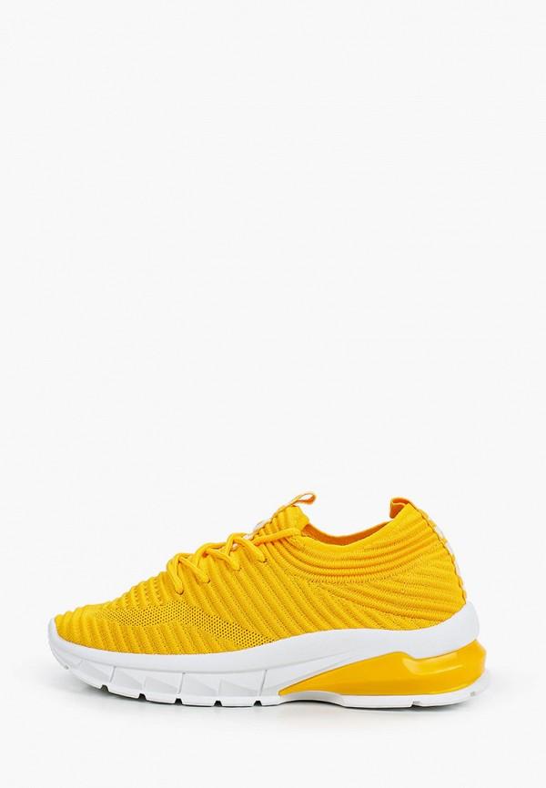 женские кроссовки ideal shoes, желтые