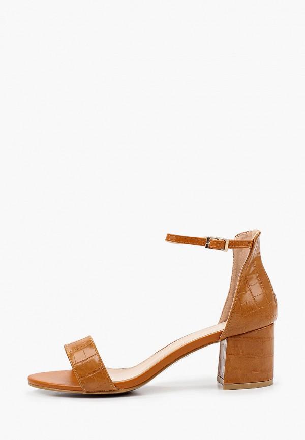 женские босоножки ideal shoes, коричневые