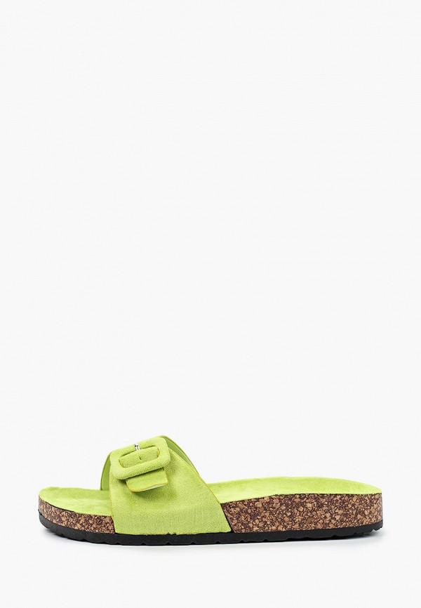 женское сабо ideal shoes, зеленое