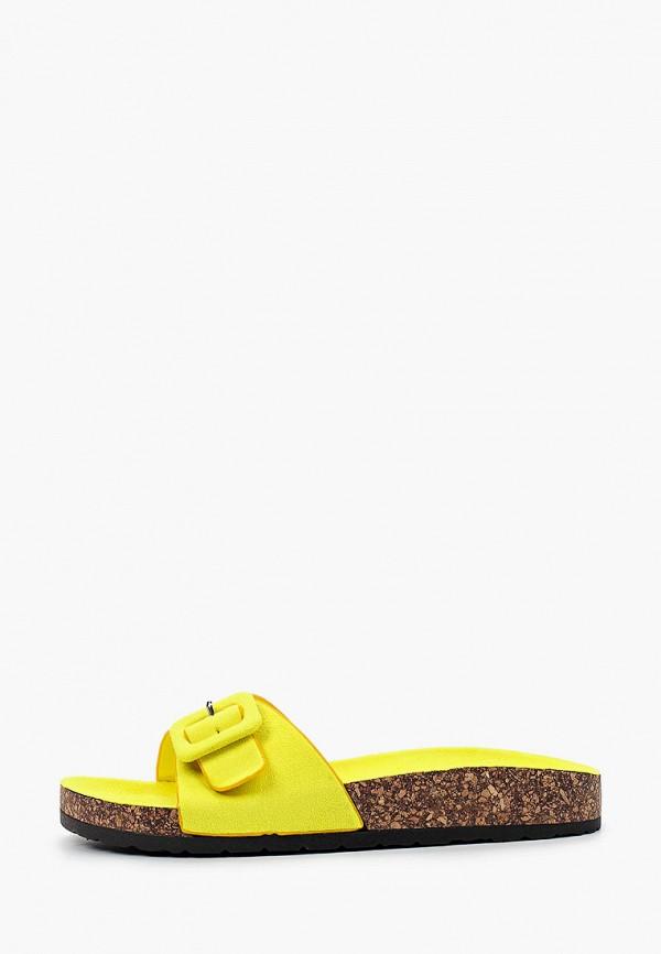 женское сабо ideal shoes, желтое