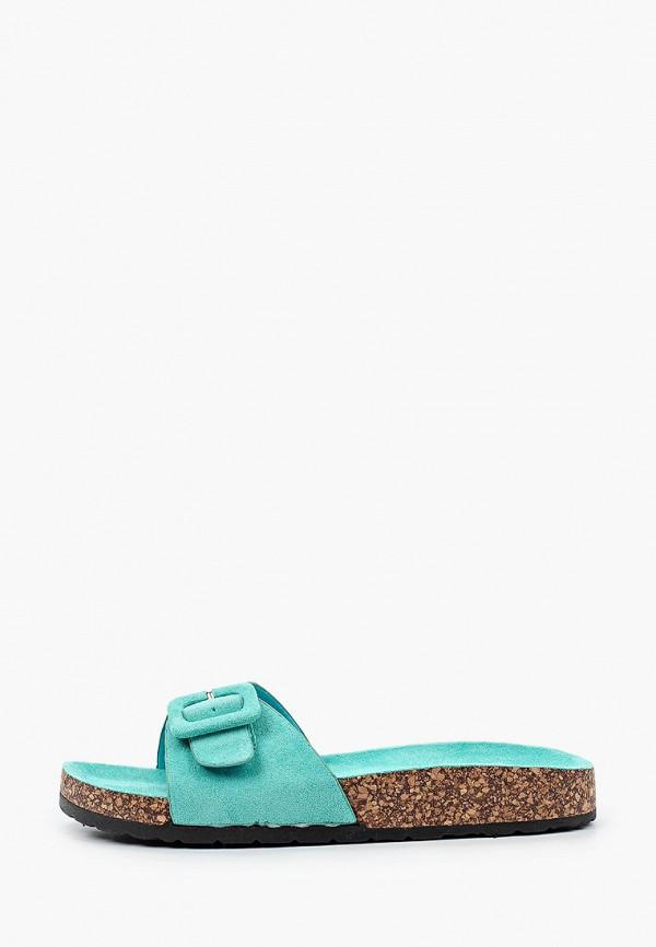женское сабо ideal shoes, бирюзовое